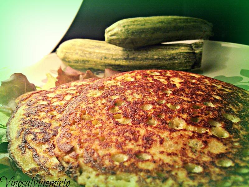 pancakes zucchini e parmigiano