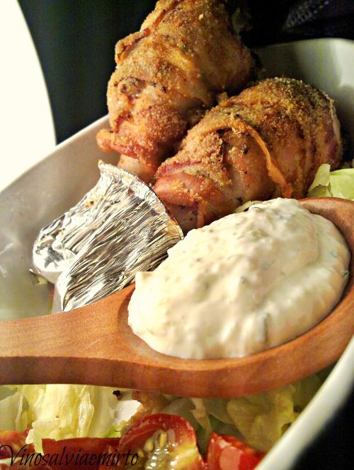 pollo pancetta e tsatsiki
