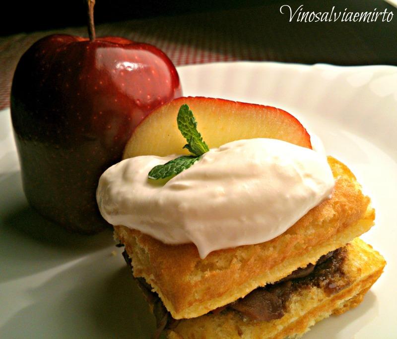 Biancaneve...dolce alle mele e cioccolato