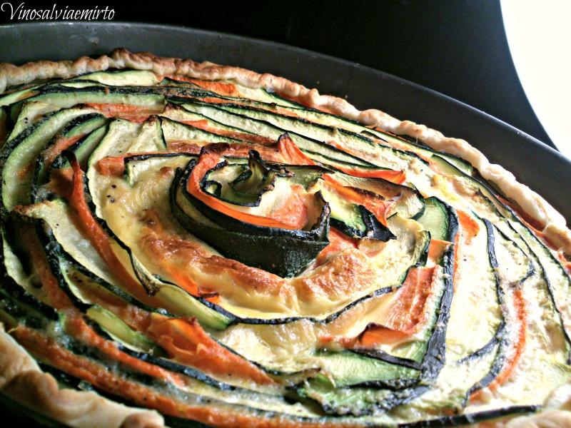 multicolor torta salata