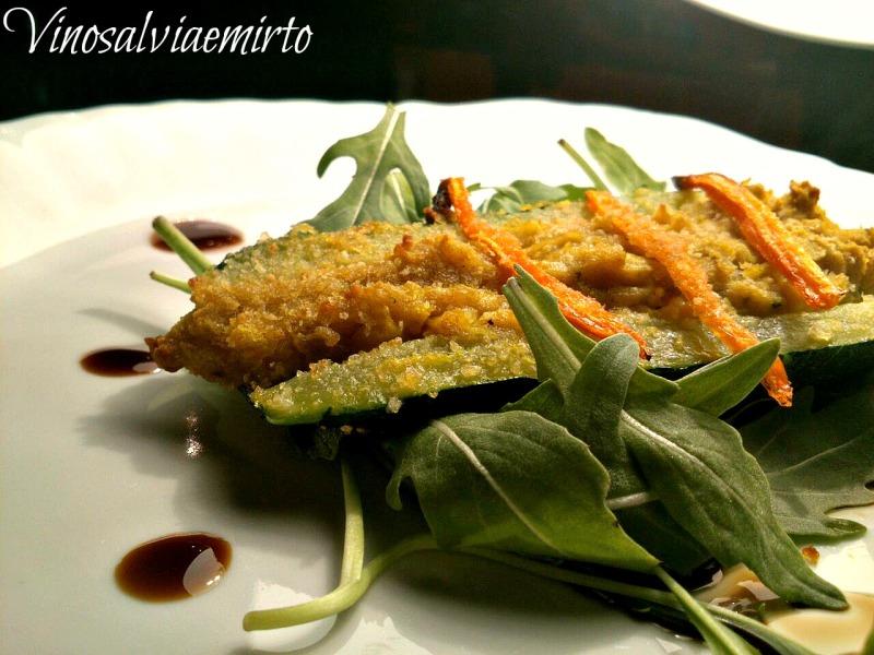 zucchini vegani con i ceci