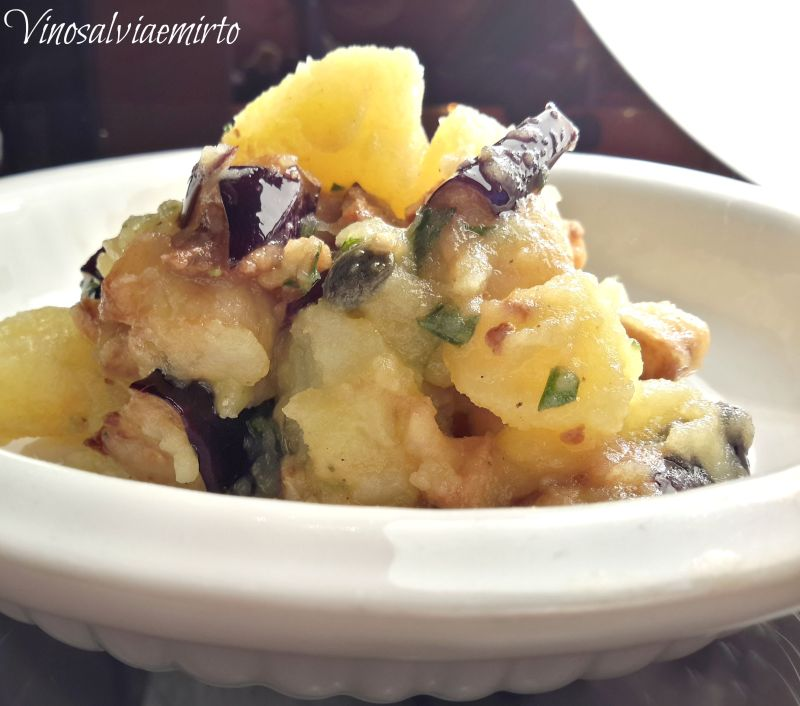 insalata di patate e melanzane fritte 2