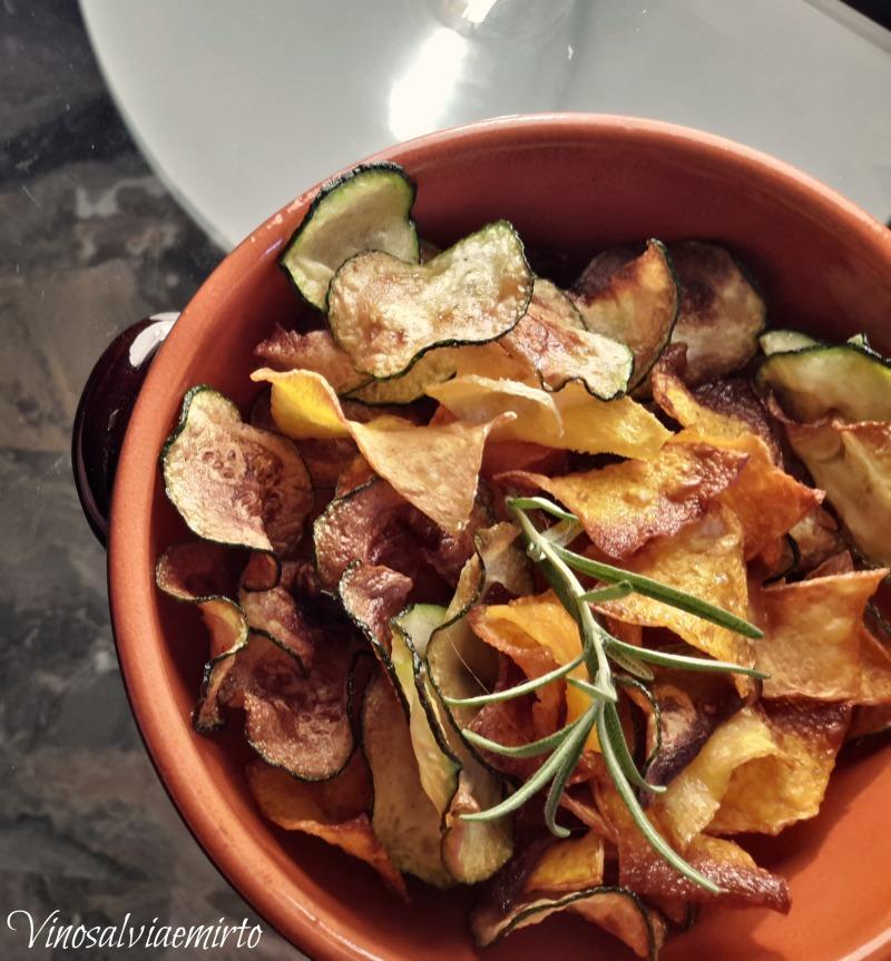 Chips di zucca e zucchine