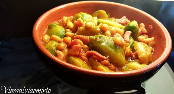 cavoletti, bacon e baked beans